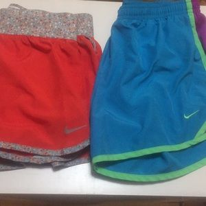 Girl's Nike Dri-Fit Shorts lot of 2 Size Large
